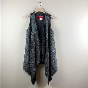NWT Sanctuary Zig Open Front Sweater Vest (XS)